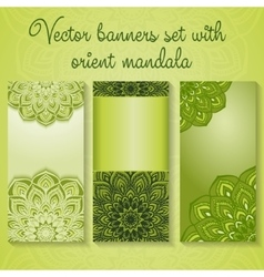 Banners with mandalas vector image