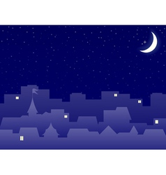 Night scenery vector