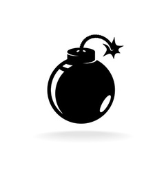 Round ball bomb one black color simple icon vector