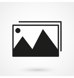 photo gallery icon black on white background vector image