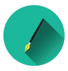 Fountain pen icon vector