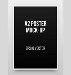 A2 black poster mock-up vector