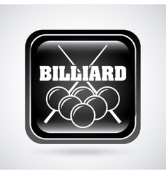 billiard tournament vector image