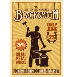 Blacksmith yellow poster vector