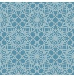 Blue seamless pattern reminiscent of frozen glass vector