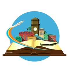 book travel city vector image