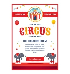 Cartoon circus poster vector image