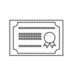 certificate school diploma graduation success vector image
