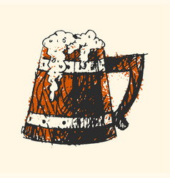 Craft beer wooden pub sketch vector