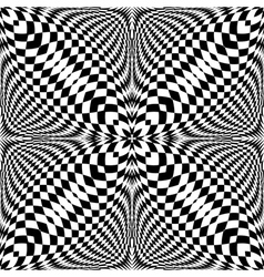 Design seamless monochrome checkered pattern vector image vector image
