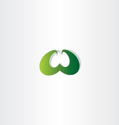 Eco green letter w logo logotype sign vector
