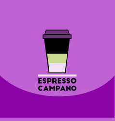 Flat icon design collection espresso vector