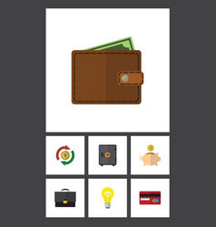 Flat icon incoming set of strongbox portfolio vector