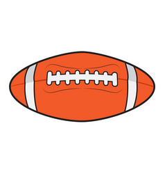 isolated football ball vector image