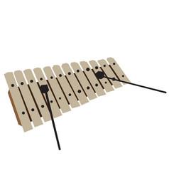 Isolated geometric xylophone vector