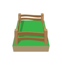 Paddock cartoon icon vector image