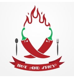 Pepper logo vector image