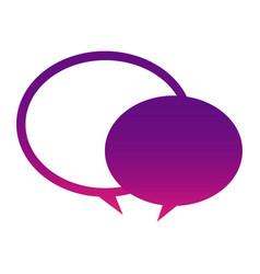 Purple round chat bubbles icon vector