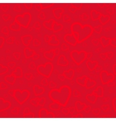 Red seamless pattern with hearts background for vector