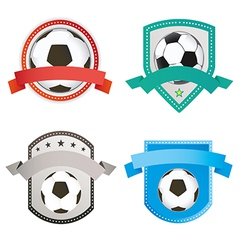 Set of soccer football and logo emblem designs vector image vector image