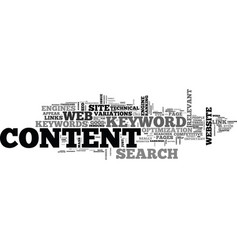 Web content mass keywords links seo text word vector