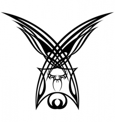 wings tattoo design elements vector image vector image