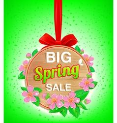 Wooden banner spring vector image