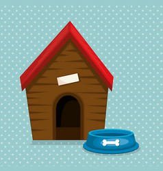 Wooden house and food mascot vector