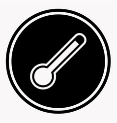 Dangerously high temperature attention symbol vector