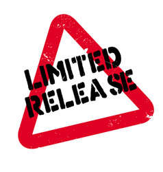 Limited release rubber stamp vector