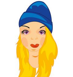 Girl in hat vector