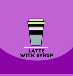 Flat icon design collection latte with vector