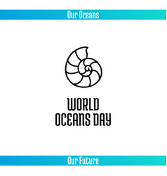 world oceans day vector image