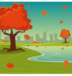 Autumn in the city vector