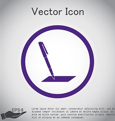 Pen or pencil writing on a sheet vector