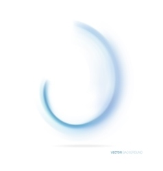 Blue abstract wave on white background vector