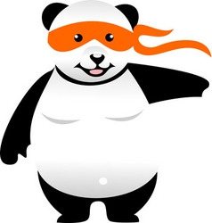 karate panda vector image