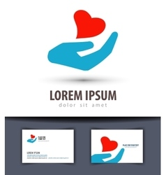 Love logo design template heart or charity vector