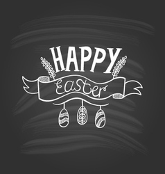 Happy easter lettering on dark background-2 vector