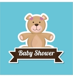 Baby shower with toy design vector