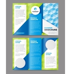 Trifold business brochure design template vector