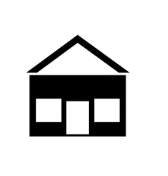 Black house with windows graphic vector