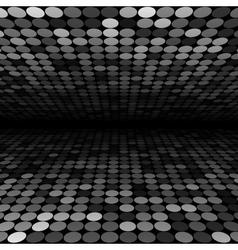 Abstract black white and grey disco circles vector
