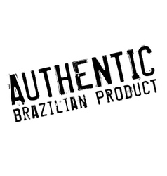 Authentic brazilian product stamp vector
