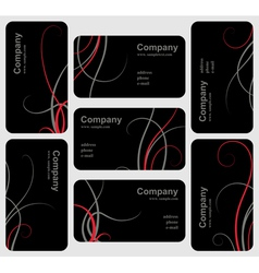 Black card set vector image vector image
