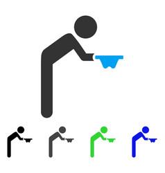 Child beggar flat icon vector