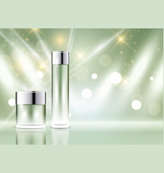 cosmetic bottle display background vector image vector image