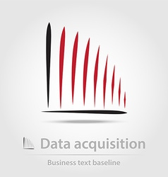 Data acquisition business icon vector