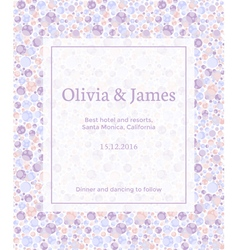 Dotted invitation vector