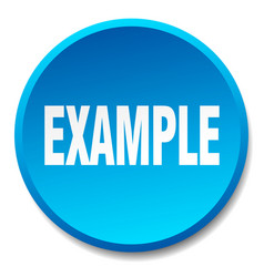 Example blue round flat isolated push button vector